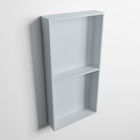 Mondiaz Easy nis 59,5x29,5cm solid surface - Clay / Clay - 2 vakken