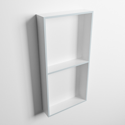 Mondiaz Easy nis 59,5x29,5cm solid surface - Clay / Talc - 2 vakken