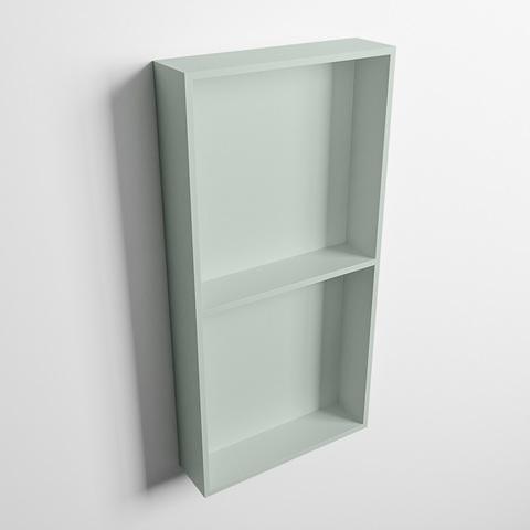 Mondiaz Easy nis 59,5x29,5cm solid surface - Greey / Greey - 2 vakken