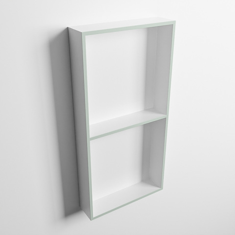 Mondiaz Easy nis 59,5x29,5cm solid surface - Greey / Talc - 2 vakken