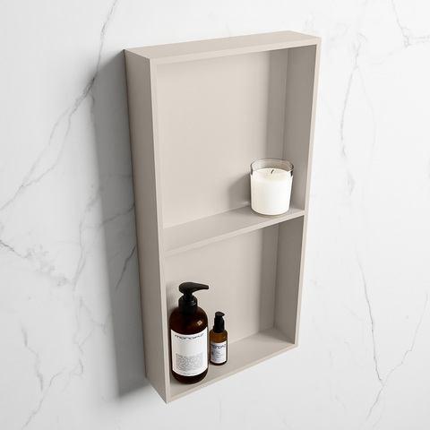 Mondiaz Easy nis 59,5x29,5cm solid surface - Linen / Linen - 2 vakken