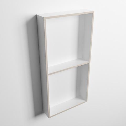 Mondiaz Easy nis 59,5x29,5cm solid surface - Linen / Talc - 2 vakken