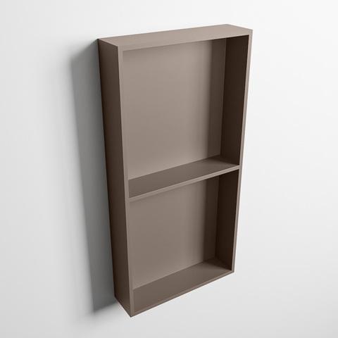 Mondiaz Easy nis 59,5x29,5cm solid surface - Smoke / Smoke - 2 vakken