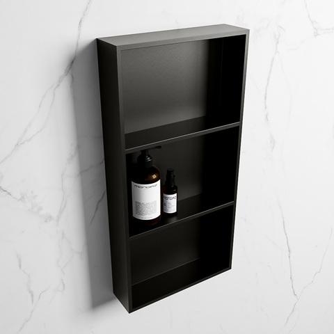 Mondiaz Easy nis 59,5x29,5cm solid surface - Urban / Urban - 3 vakken