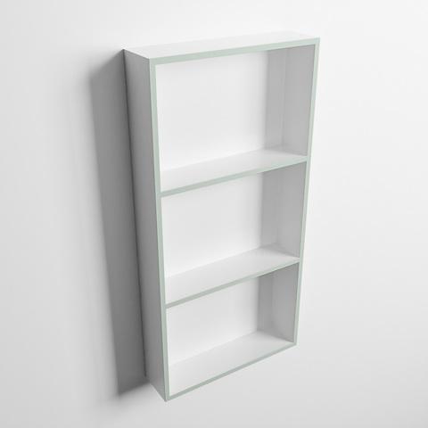 Mondiaz Easy nis 59,5x29,5cm solid surface - Greey / Talc - 3 vakken
