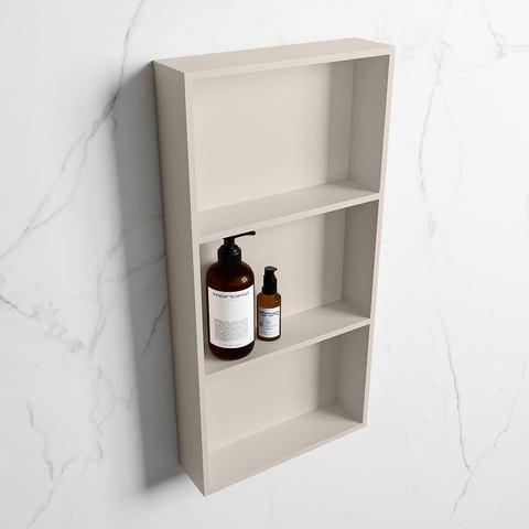 Mondiaz Easy nis 59,5x29,5cm solid surface - Linen / Linen - 3 vakken