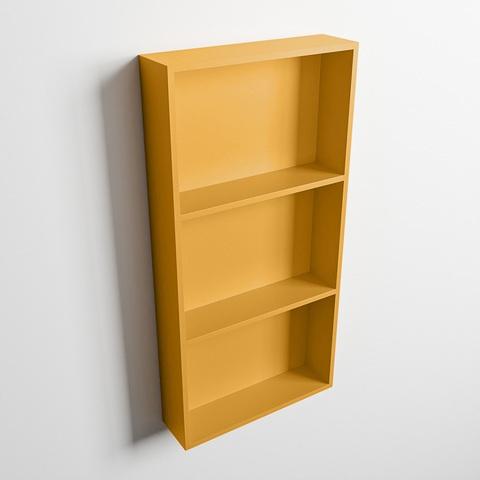Mondiaz Easy nis 59,5x29,5cm solid surface - Ocher / Ocher - 3 vakken