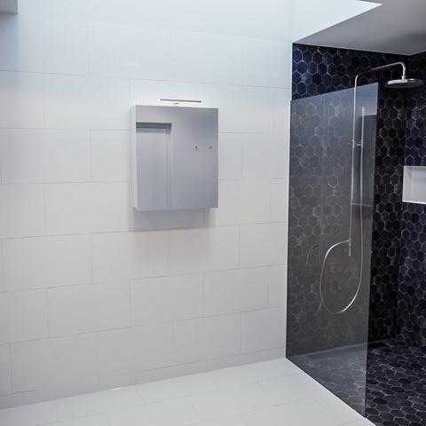 Mondiaz Cubb spiegelkast 60x70x16cm met 1 deur - Talc