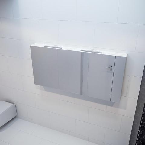 Mondiaz Cubb spiegelkast 150x70x16cm met 3 deuren - Carrara
