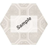 Sample - Cifre Vodevil Decor Ivory 17,5x17,5