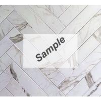 Sample - Cifre Tegelstroken Statuario mat 10x60 rett
