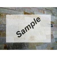 Sample - Kerabo Schiste flatface stonepanel beige slate 15x60x1/2
