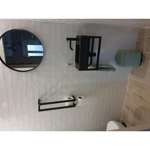 Differnz Bombai Black fonteinset - kraan recht - mat chroom