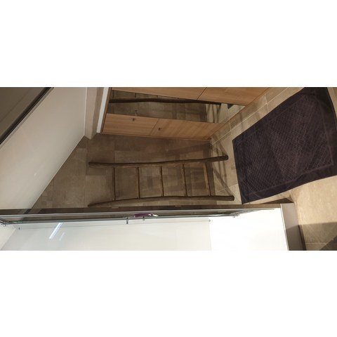 Bewonen Teun badkamer decoratie ladder rustiek 175cm